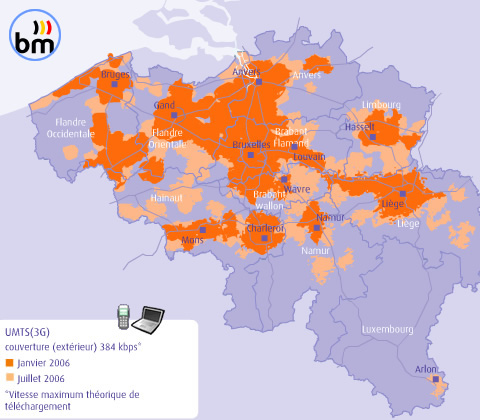 carte de couverture Proximus 3G