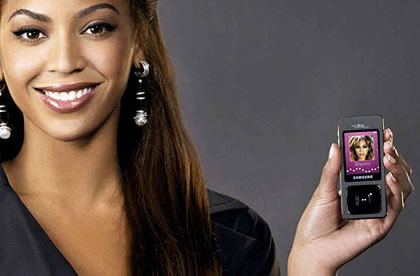 Beyonce Knowles Samsung Ultra Music F300
