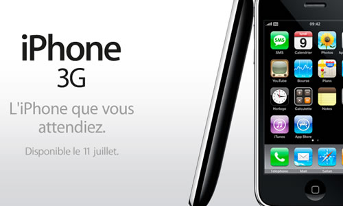 Apple iPhone 3G Belgique