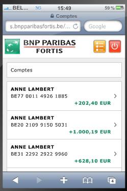 BNP Paribas Fortis Mobile Banking