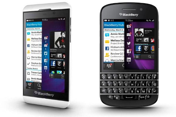BlackBerry Z10 et Q10