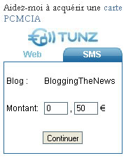Tunz exemple sur Blogging The News