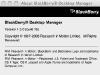 Blackberry Desktop Manager pour Mac - About