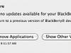 Blackberry Desktop Manager pour Mac - Recherche de mise à jour
