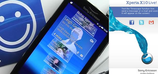 Sony Ericsson Xperia X10 TimeScape Live