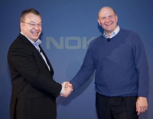 Nokia Microsoft Stephen Elop Steve Ballmer