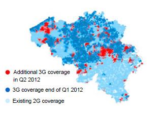 Base couverture 3G au deuxième trimestre 2012