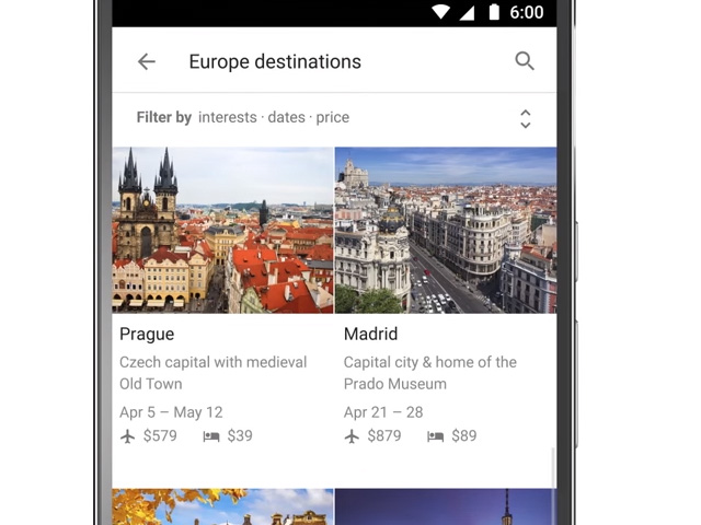 google-destinations