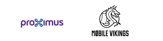 logo de proximus et Mobile Vikings